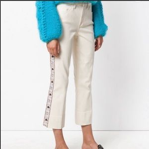 Tory Burch Sandy Super Cropped Embroidered pants